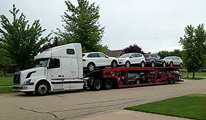 Uploading a car to a truck