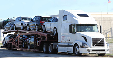 Van 3 Auto Transport Truck Photo