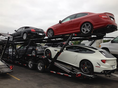 Van 3 Auto Transport Shipped A Full Load Of Luxury Cars From Atlanta